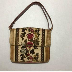 Vintage Tano Floral Carpet Shoulder Bag
